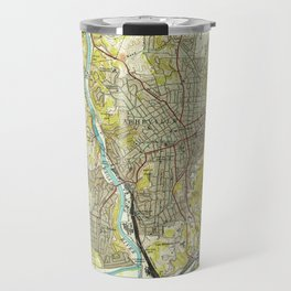 Vintage Map of Asheville North Carolina (1943) Travel Mug