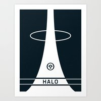 halo Art Prints featuring HALO by Prodimator