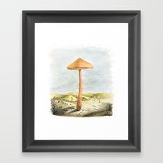 Mushland - Watercolors Framed Art Print