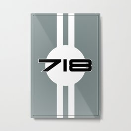 718 Racing Design Metal Print