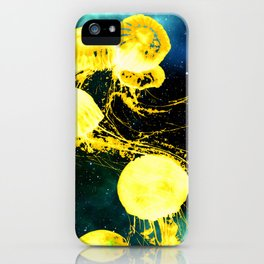 Electric Jellyfish in the Ether iPhone Case