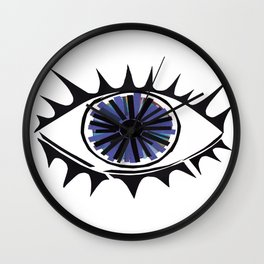 Blue Eye Warding Off Evil Wall Clock