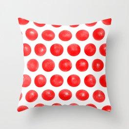 Red Spots Throw Pillow