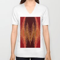 ikat V-neck T-shirts featuring INDY IKAT by Sherylcolour