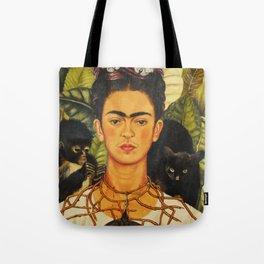 Frida Kahlo Self-Portrait Thorn Necklace and Hummingbird Tote Bag
