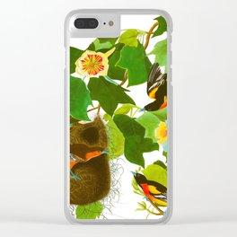 Baltimore Oriole Bird Clear iPhone Case