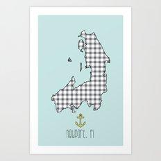Newport prep Art Print