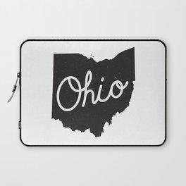 Ohio Typography Map Laptop Sleeve