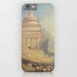 """J.M.W. Turner """"The Valley of the Brook at Kidron, Jerusalem (Absalom's Tomb)"""" iPhone Case"""