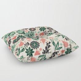 Succulent flowerbed Floor Pillow