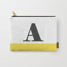 Monogram Letter A-Pantone-Buttercup Carry-All Pouch