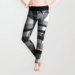 grey crossed stripes Leggings
