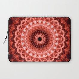 Mandala in deep red tones Laptop Sleeve