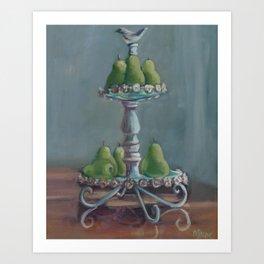 Pear Stand Art Print