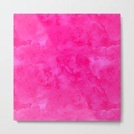 Neon pink watercolor modern bright background Metal Print