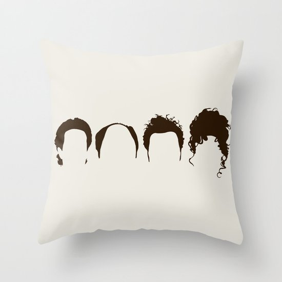 Seinfeld Hair Throw Pillow