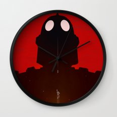 Iron Red Wall Clock