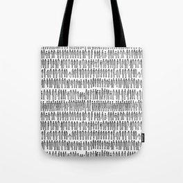 Paper Clip People Tote Bag