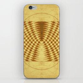 Alien crop circle. Sacred geometry. iPhone Skin