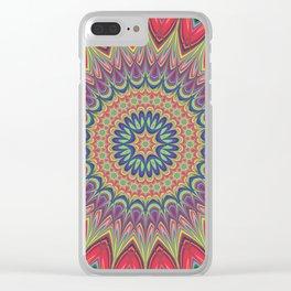 Flame mandala Clear iPhone Case