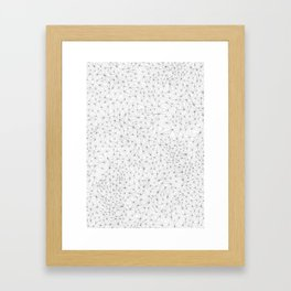a lot of triangles Framed Art Print