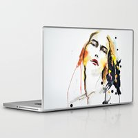 grateful dead Laptop & iPad Skins featuring Grateful by Mitra Art