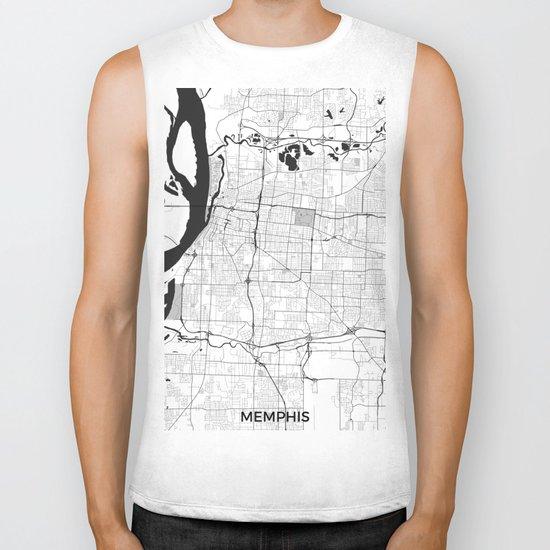 Memphis Map Gray Biker Tank