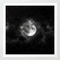 lunar Art Prints featuring LUNAR by ZakPhotography