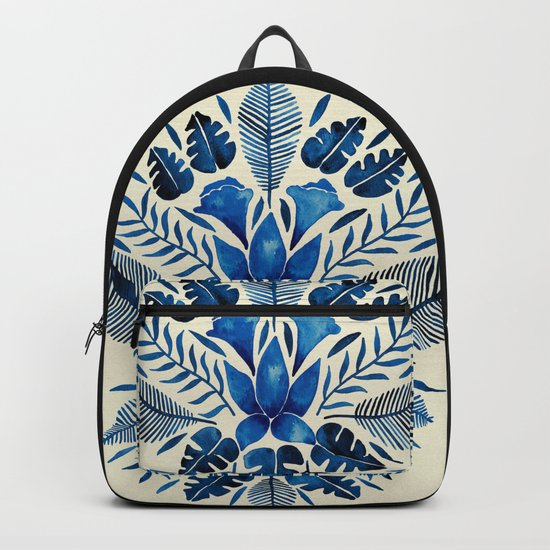 Tropical Symmetry – Navy Backpack