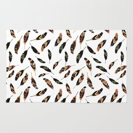 Feathers seamless pattern, vector illustration Rug