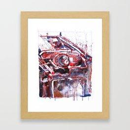 Hypewriter Framed Art Print