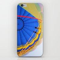 hot air balloon iPhone & iPod Skins featuring BALLOON LOVE - Hot Air Balloon by Brian Raggatt