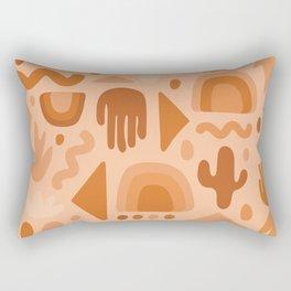 Orange Cutout Print Rectangular Pillow