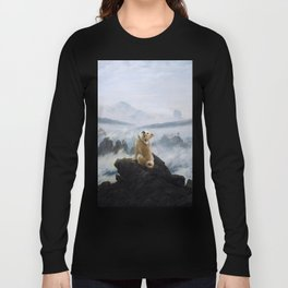 The Wanderer Above the Sea of Doge Long Sleeve T-shirt