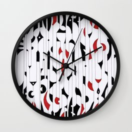 sentence n. 15 (ORIGINAL SOLD). Wall Clock