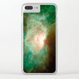 the horse becomes the phoenix | space #04 Clear iPhone Case