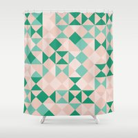 emerald Shower Curtains featuring Emerald  by Leandro Pita