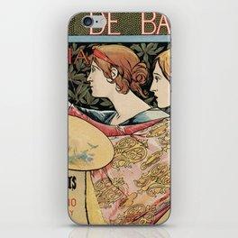 Vintage Art Nouveau expo Barcelona 1896 iPhone Skin