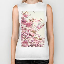 Cherry blossoms world Biker Tank