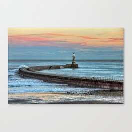 Roker Pier and Lighthouse Canvas Print