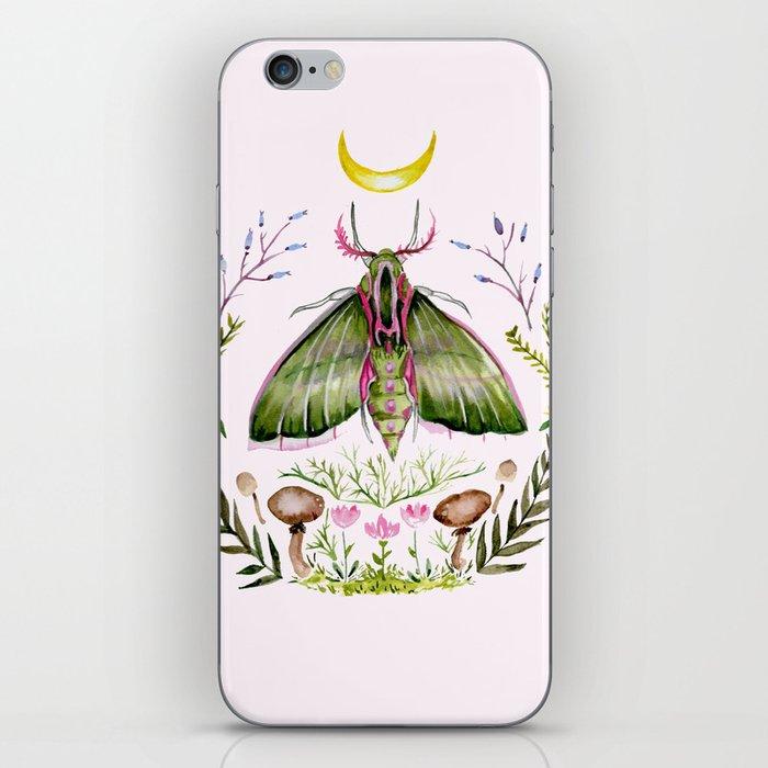 Pink Moth iPhone Skin