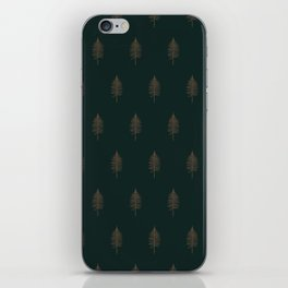 Vintage Fern in Gold and Green iPhone Skin