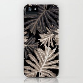 Philo Hope - Tropical Jungle Leaves Pattern #4 #tropical #decor #art #society6 iPhone Case