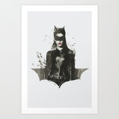 TDKR-catwoman II Art Print