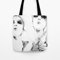 halo Tote Bags featuring Halo. by Pie & Tau.