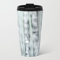 Birch trees in winter Metal Travel Mug