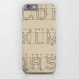 Vintage Block Font iPhone Case