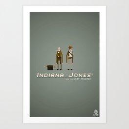 Pixel Art Indiana Jones Art Print