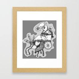 Break fast Framed Art Print