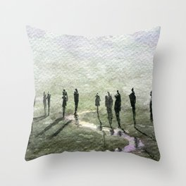 The Million Masks of God Throw Pillow